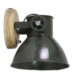 Light&Living Wandlamp Elay leger groen hout 18 x 20 x 19 Home Online Shop, Industrial, Color Shapes, Game Room, Decorative Bells, Home Accessories, Interior Decorating, Inspiration, Furniture