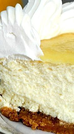 Triple-Lemon Cheesecake - Though this recipe contains lemon juice and lemon zest as well as a topping of lemon curd, the cream cheese is not overpowered in this creamy cheesecake.. ❊
