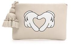 Anya Hindmarch Georgiana Heart Hands Clutch