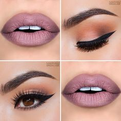 gorgeous peachy eye and soft plum lips - beautiful! ~ we ❤ this! moncheribridals.com