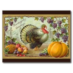 Shop Vintage Thanksgiving Day Turkey Postcard created by Vintage_Gifts. Personalize it with photos & text or purchase as is! Thanksgiving Songs, Thanksgiving Greeting Cards, Thanksgiving Pictures, Thanksgiving Invitation, Vintage Thanksgiving, Thanksgiving Parties, Thanksgiving Decorations, Fall Cards, Thanksgiving Turkey