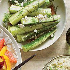 Greek Salad Cucumbers | CookingLight.com #myplate #vegetables #dairy