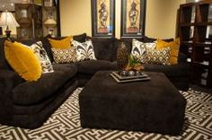 Ideas Living Room Decor Brown Couch Sectional Sofas Colour For 2019 Living Room Color Schemes, Paint Colors For Living Room, Living Room Designs, Living Room Decor Brown Couch, Living Room Grey, Sectional Sofas, Home Decor, Google Search, Dark Brown Couch