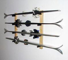 Ski Storage | Horizontal 4 Skis - StoreYourBoard.com