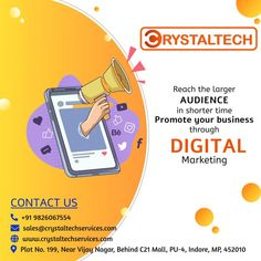 Are you ready to hire a digital marketing agency for your business? Learn the benefits and advantages of hiring a marketing professional for your business. CRYSTALTECH™ helps local businesses with time-tested marketing techniques, strategy, content marketing, social media management, advertising and video production. Follow for tips, ideas and hacks for entrepreneurs. Sales E-mail:- sales@crystaltechservices.com Website:- www.crystaltechservices.com Content Marketing, Digital Marketing, It Service Provider, Marketing Techniques, Marketing Professional, Management, Time Tested, Social Media, Video Production