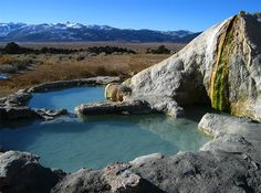 Travertine hot springs, near Bridgeport, California