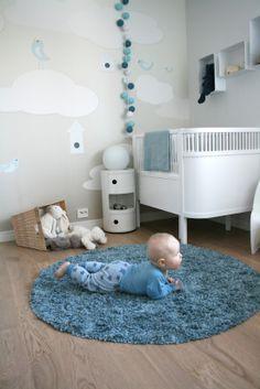 Sweet baby boy nursery #nursery #decor