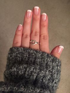 French manicure with gel polish