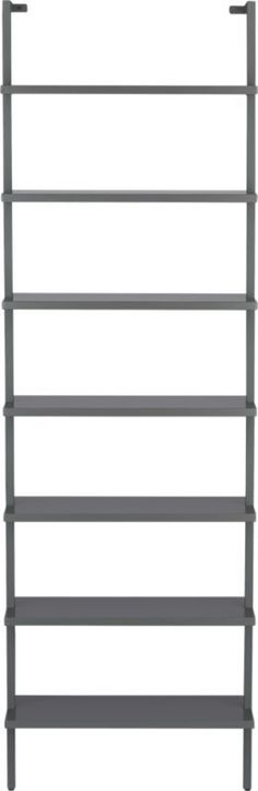 stairway grey wall mounted bookcase  #CB2