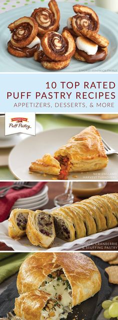 It's no secret that Pepperidge Farm® Puff Pastry Sheets are the favorite ingredient of hostesses everywhere. Check out this collection of top rated Puff Pastry recipes to find a winning dish for your next dinner party. S'mores Sandwich Swirls, Puff Pastry Strawberry and Cream Napoleons, and Brie en Croute are just some of the delicious options that you can choose from. Puff Pastry Desserts, Frozen Puff Pastry, Puff Pastry Sheets, Puff Pastry Recipes, Puff Pastries, Easter Recipes, Appetizer Recipes, Dessert Recipes, Easter Appetizers
