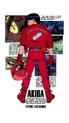 """""""Even if I don't tell you which manga this was a title page for, you already know. Manga Anime, Got Anime, Manga Art, Anime Art, Japanese Graphic Design, Japanese Art, Japanese Poster, Akira Characters, Akira Anime"""