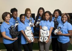 SpelBots is Spelman College's all-female robotics team whose goal is to encourage students & young women of African descent to explore robotics and computer science. SpelBots made history in 2005 as the first all-female, all African-American, undergraduate team to qualify and compete in the International RoboCup four-legged robot soccer competition. Spelman College is the only HBCU to compete at the RoboCup international level.