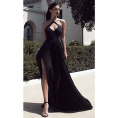 2016 Sexy Halter Neck Black Prom Dresses Ruched Side Slits Open Back... ❤ liked on Polyvore featuring dresses, gowns, sexy gowns, open back prom dresses, white ball gowns, prom gowns and white halter dress