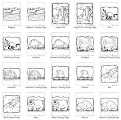 100 Animal coloring pages from anteaters and alligators to worms and zebras. Animal Jr. has a complete animal kingdom coloring collection all in one place!
