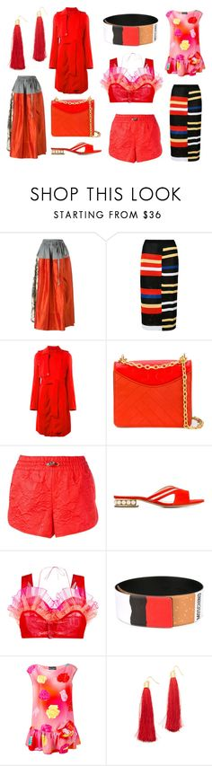 """""""Red Hot Summer"""" by donna-wang1 ❤ liked on Polyvore featuring Vivienne Westwood Red Label, Proenza Schouler, Rick Owens, Tory Burch, adidas Originals, Nicholas Kirkwood, Facetasm, Moschino, Boutique Moschino and Adia Kibur"""