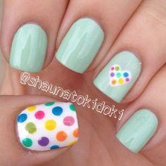 15 easy polka dot summer nail art ideas to get inspiration Loading. 15 easy polka dot summer nail art ideas to get inspiration Diy Nails, Cute Nails, Pretty Nails, Dot Nail Art, Polka Dot Nails, Polka Dots, Polka Dot Pedicure, Nail Deco, Dot Nail Designs