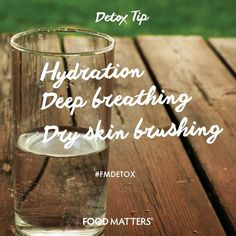 Our daily lifestyle habits are as important as our food choices, especially when it comes to detoxification. These are 3 simple daily habits that flush out physical and emotional toxins. We love doing these everyday! Have you done these 3 things today?   www.hungryforchange.tv #Detoxtip