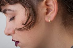Check out this item in my Etsy shop https://www.etsy.com/il-en/listing/485945291/solid-gold-post-earring-14k-yellow-gold