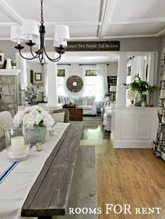 ~rooms FOR rent~: New Chandelier in the Dining Room: