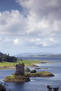 Castle Stalker, Argyll, Scotland    Have been here.. beautiful place..