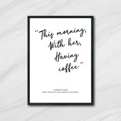 ETSY // Johnny Cash Printable // this morning, with her, having coffee Coffee Printable, Printable Art, Printables, Brice Lee, Printing Services, Online Printing, Johnny Cash Quotes, Free Prints, Wall Quotes