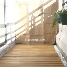 """【ベランダガーデニング】床材は""""すのこ""""で簡単格安DIY   SHOCOLINJP"""