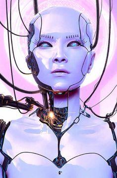 Cyborg Workshop for Advanced Photoshop Magazine by Oliver Wetter, via Behance Cyborg Girl, Female Cyborg, Cyborg Eye, Cyberpunk Aesthetic, Arte Cyberpunk, Arte Sci Fi, Sci Fi Art, Character Art, Character Design