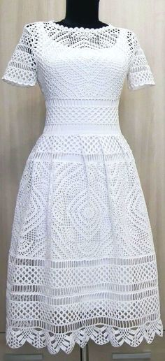 Fabulous Crochet a Little Black Crochet Dress Ideas. Georgeous Crochet a Little Black Crochet Dress Ideas. Knit Dress, Dress Skirt, Lace Dress, Crochet Woman, Crochet Lace, Crochet Summer, Filet Crochet, Clothing Patterns, Dress Patterns