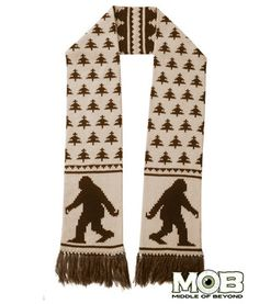Bigfoot Sasquatch Knit Scarf – Middle of Beyond $29.99