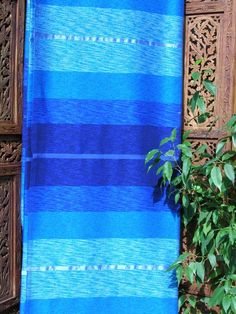 A bright blue Moroccan silk throw will add a touch of the Marjorelle Gardens to your home and garden. See our collection of throws http://www.maroque.co.uk/catalog.aspx?p=00074
