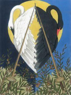 Two of Swords Swan Crest