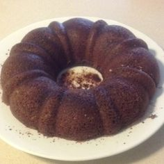 Dukan diet chocolate oat bran Bundt cake!