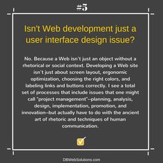 Isn't Web development just a user interface design issue?  #WebDevelopment #Web #Development #Design #Issue #Social #Website #ProjectManagement #Techniques #Human #Communication