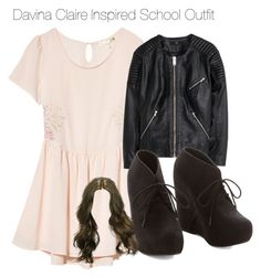 """Davina Claire Inspired School Outfit"" by staystronng ❤ liked on Polyvore"