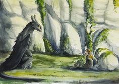 Toothless and Hiccup. :)
