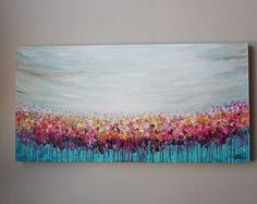 Flower paintingabstract flower painting redpinkorangered