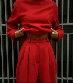 All Red Outfit Collection All Red Outfit. Here is All Red Outfit Collection for you. All Red Outfit how to wear an all red outfit graceful style. All Red Outfit olivia culpo in red Look Fashion, Winter Fashion, Luxury Fashion, Womens Fashion, Fashion Trends, Fashion Mode, Ladies Fashion, Red Fashion Outfits, Fashion 2018