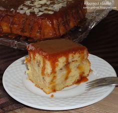ВКУСНО И СЛАДКО  кулинарни рецепти: Ябълков сладкиш с карамелена заливка