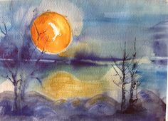 Watercolor 2014, sign by Olavi Alanko