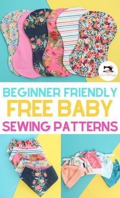 baby diy Learn how to sew adorable bandana baby bibs, hats and burp cloths with these free and easy sewing patterns with step-by-step tutorials. SVG files included for the Cricut Maker! Easy sewing tutorials perfect for beginners. Baby Sewing Projects, Sewing Projects For Beginners, Sewing For Kids, Free Sewing, Sewing Hacks, Sewing Tutorials, Sewing Crafts, Sewing Tips, Sewing Machine Projects