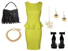 Outfit Ideas - What to Wear with a mustard yellow peplum dress. More outfits on the blog.