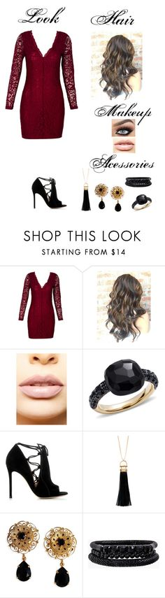 """""""Hanna marin"""" by helloysa-gomes ❤ liked on Polyvore featuring WithChic, LASplash, Pomellato, Gianvito Rossi, Sparkling Sage, Dolce&Gabbana and Spring Street"""