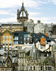 A patchwork of beautiful buildings #Edinburgh Old Town by @scottallenwilson