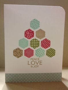 Infinite Possibilities: Hexagon Christmas #stampin' up! card I think I'll use #honeycomb embossing folder