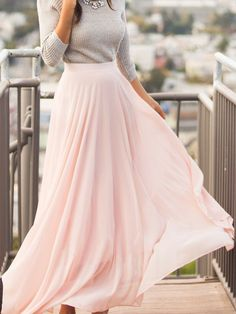 Shop Pink Chiffon Flare Long Skirt online. SheIn offers Pink Chiffon Flare Long Skirt & more to fit your fashionable needs.