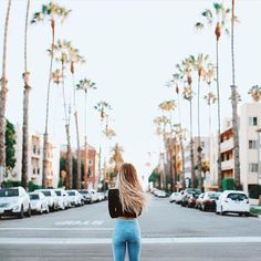 i love this picture so much | california cali tumblr beach palm trees street style fashion travel