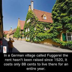 """unbelievable-facts: """" In a German village called Fuggerei, the rent hasn't been raised since costs just 88 euro cents to live there for an entire year. Oh The Places You'll Go, Cool Places To Visit, Beautiful Places To Travel, I Want To Travel, German Village, To Infinity And Beyond, Future Travel, Adventure Is Out There, Dream Vacations"""