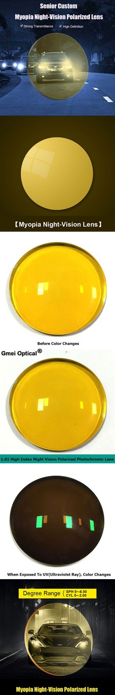 New Arrival Gmei Optical 1.61 Night Vision Polarized Coating Photochromic Color Change Lenses Yellow to Brown