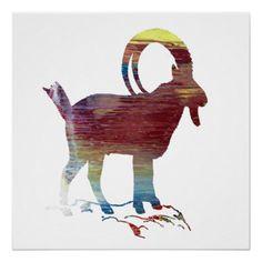 #Wild Goat Poster - #nurseryart #nursey #art #baby #cute #print #babies
