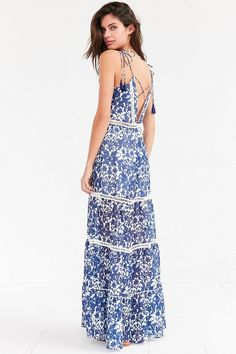 Saylor Anna Plunge Print Maxi Dress on ShopStyle